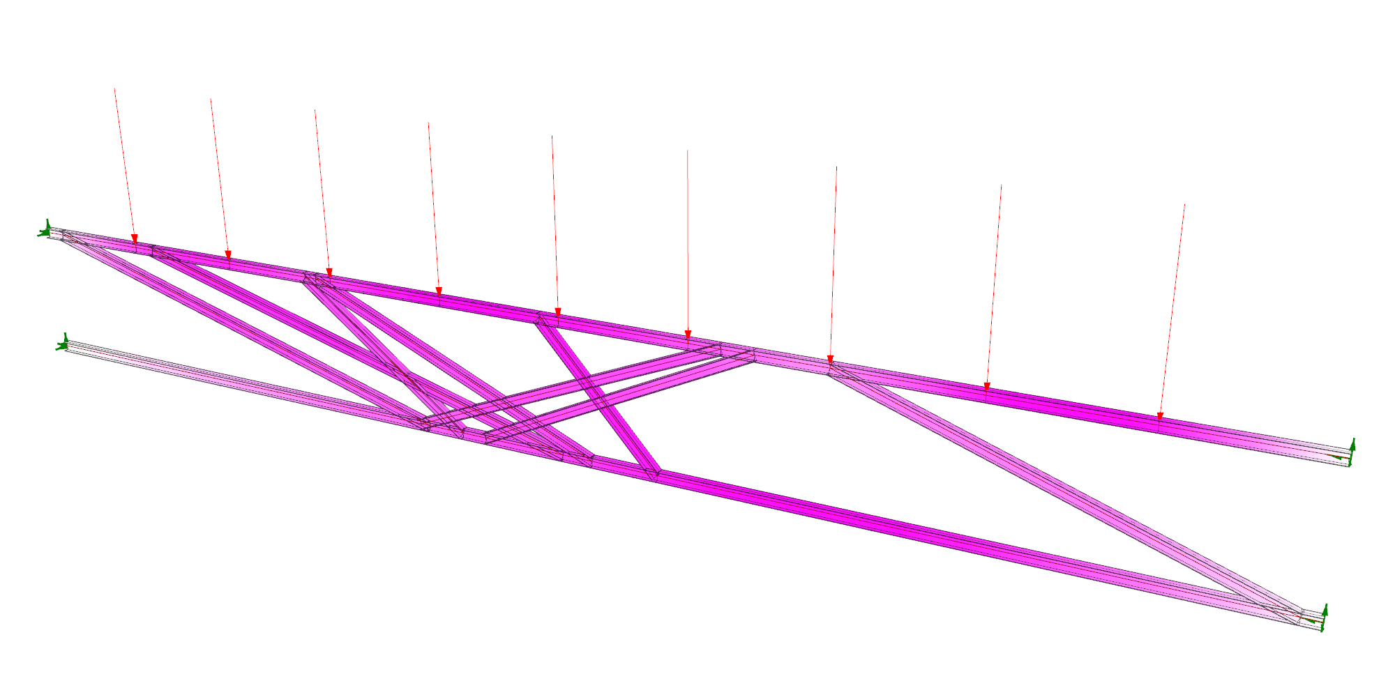 Optimization of Truss Diagonals