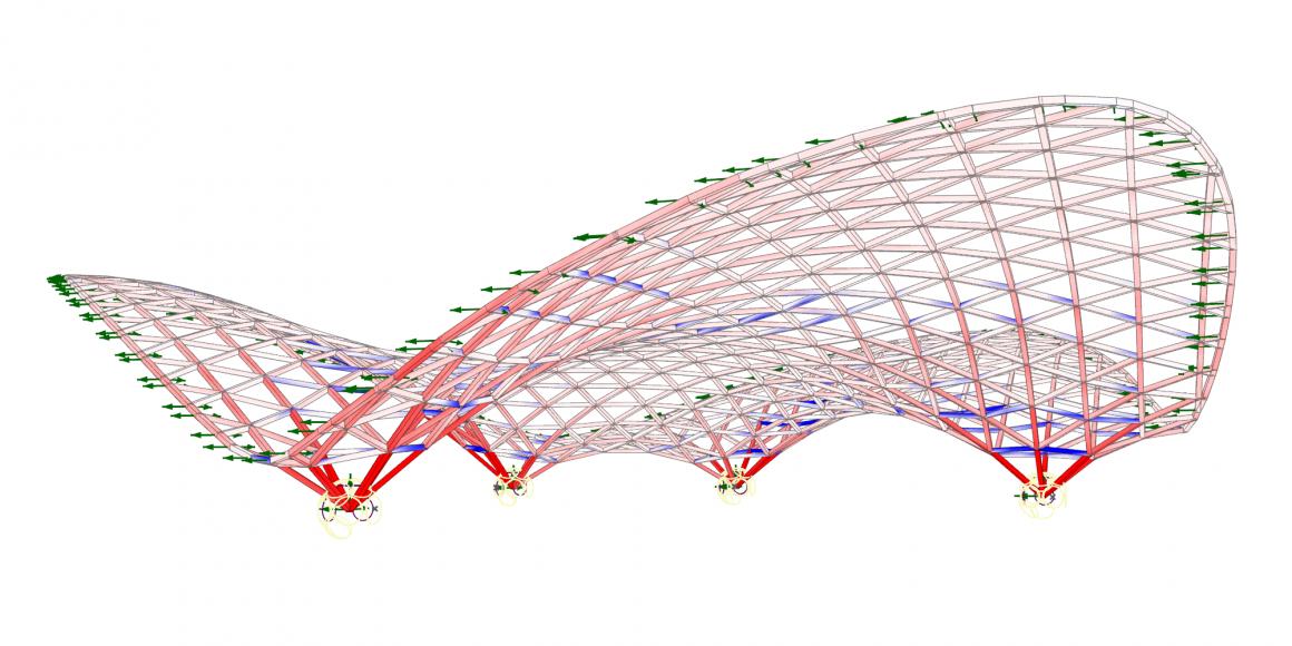 Large Deformation of a Triangular Grid