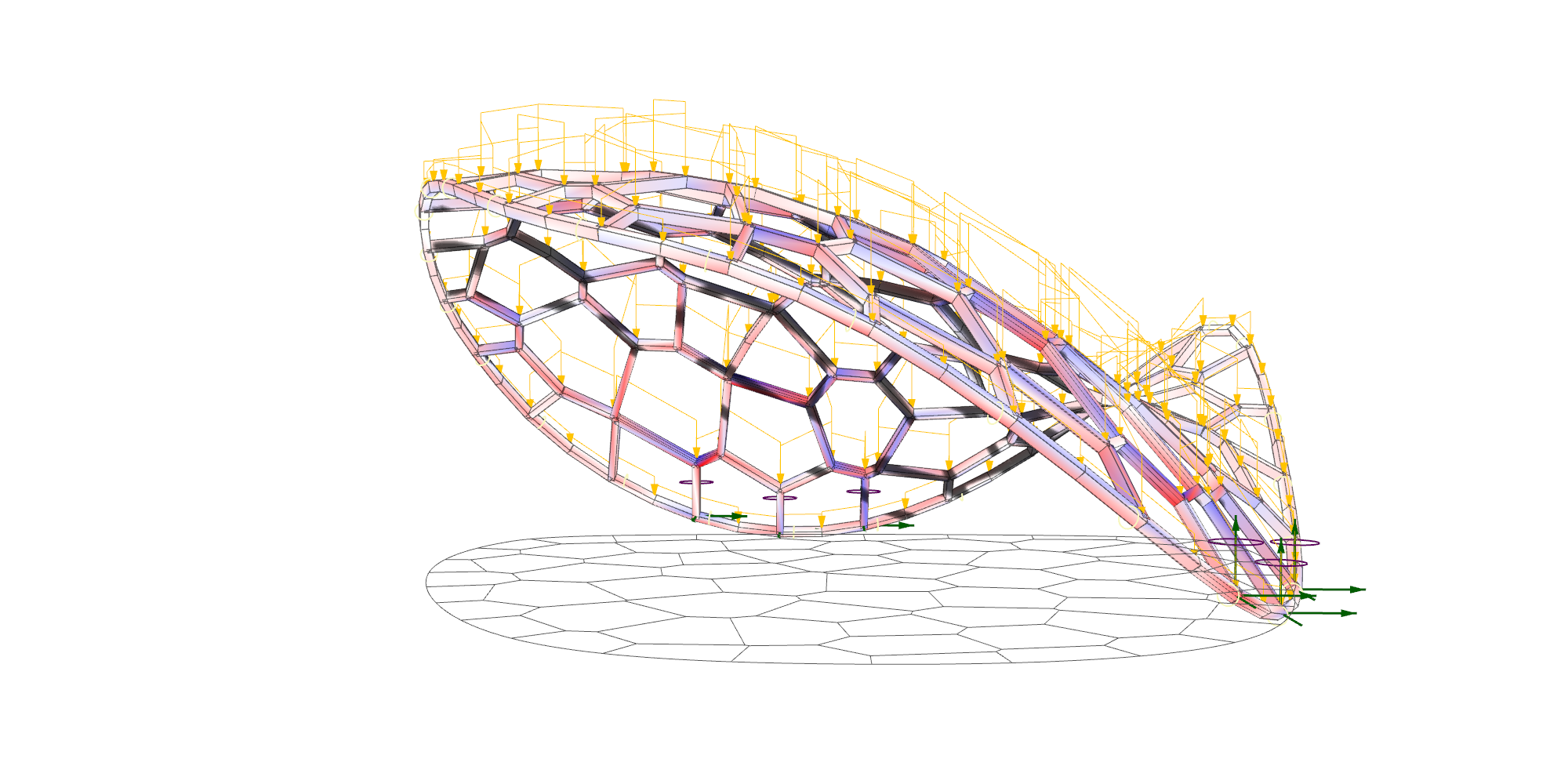 Projected Voronoi Pattern Gridshell