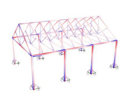 Analyze a Gable Truss Structure