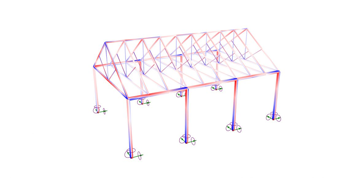Analyze a Gable Truss Structure