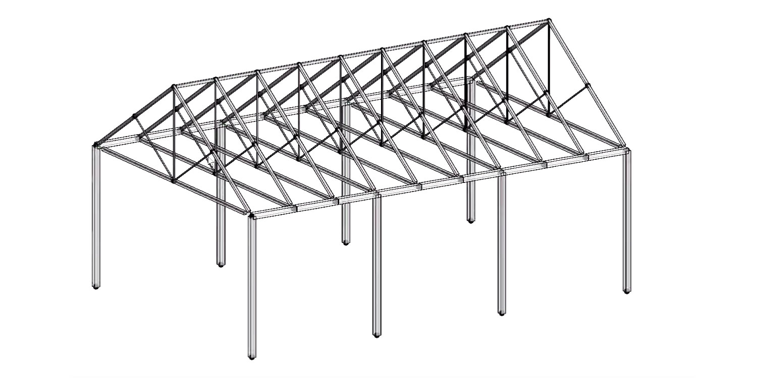 Export a Gable Truss Structure to Revit with Geometry Gym/Rhynamo