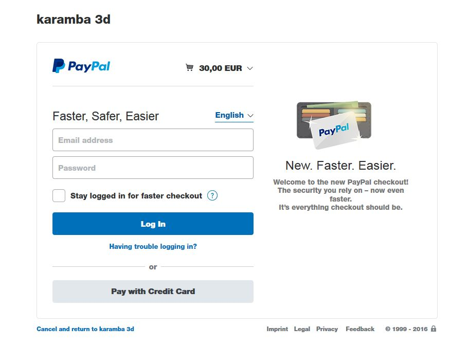 I do not have a paypal account  Can I purchase a Karamba license
