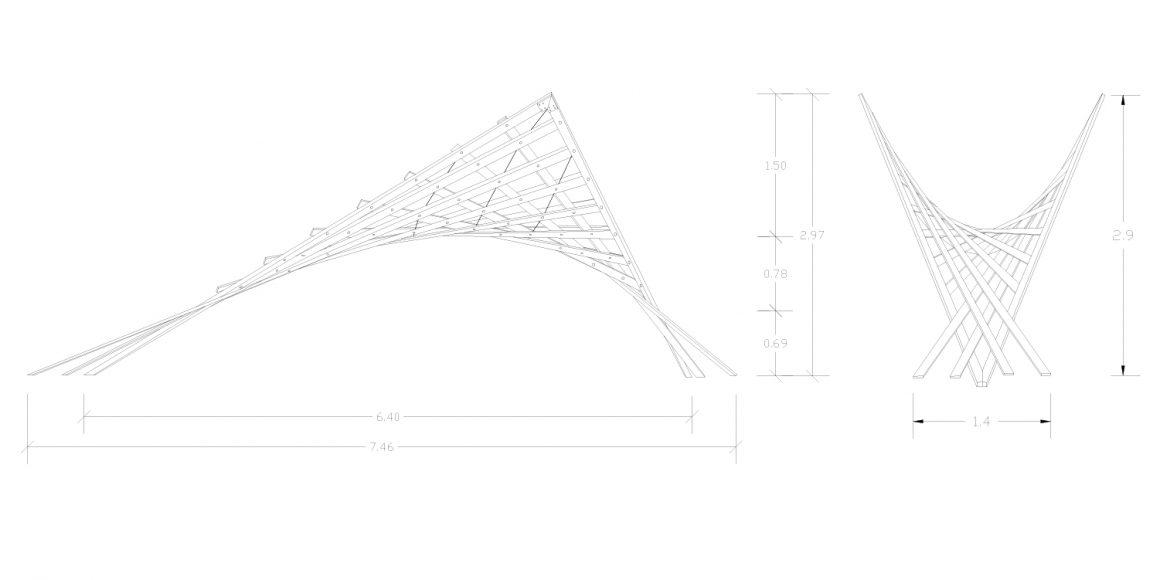 Hyperbolic Paraboloid Bridge